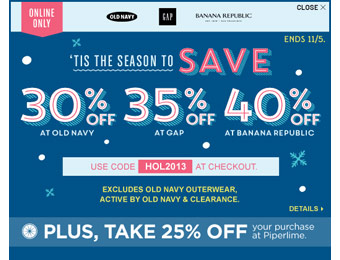 Save an Extra 30% off Your Order at Old Navy