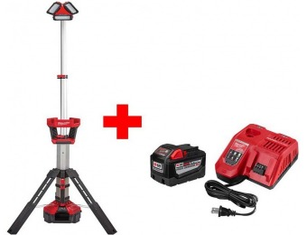 $199 off Milwaukee M18 Lithium-Ion Cordless Rocket LED Stand Light