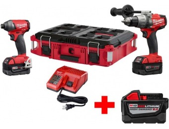 $169 off Milwaukee M18 Fuel Brushless Hammer Drill Combo Kit