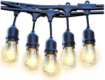 84% off Commercial Grade Outdoor 33' Edison Bulb Lights
