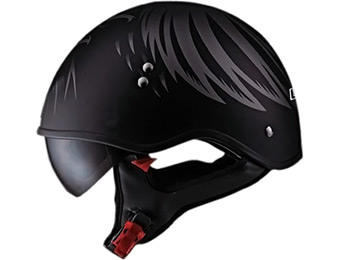"51% off LS2 Helmets HH566 ""A"" Half Helmet with Graphic and Sun Visor"