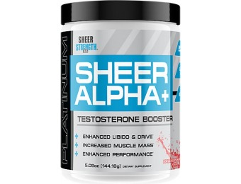 37% off Sheer Strength Sheer Alpha+ Testosterone Booster