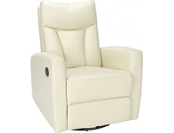 88% off Monarch Ivory Bonded Leather Swivel Glider Recliner