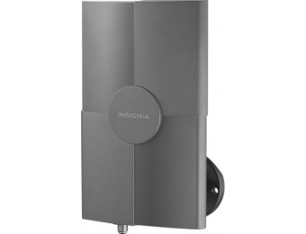 60% off Insignia Outdoor Amplified TV Antenna