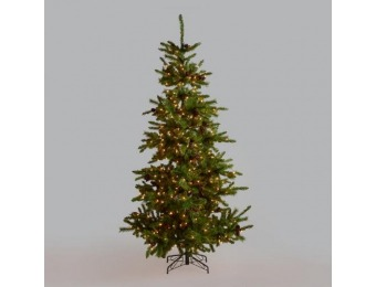 90% off Pre Lit Artificial Christmas Tree with Pinecones