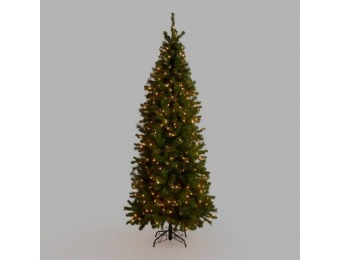 90% off Pre Lit Slim Artificial Christmas Tree