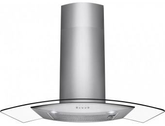 "50% off AKDY 36"" Convertible Wall Mount Range Hood in Stainless Steel"