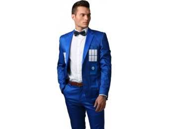 75% off Doctor Who TARDIS Formal Slim Fit Suit Jacket