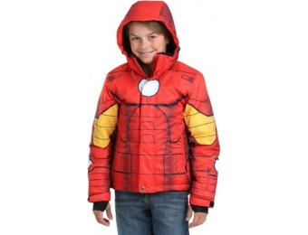 84% off Iron Man Superhero Kids Snow Jacket