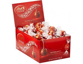 65% off Lindt LINDOR Milk Chocolate Truffles, Kosher, 60 Count Box