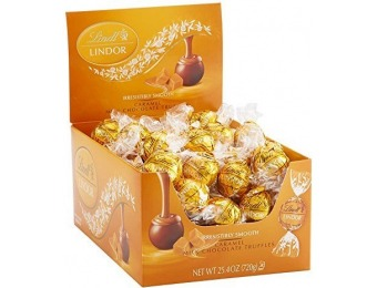 52% off Lindt LINDOR Caramel Milk Chocolate Truffles, 60 Count Box