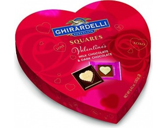 70% off Ghirardelli Valentines Day Heart Gift, Milk Chocolate,