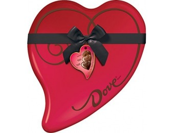 51% off DOVE Extra Large Valentine's Chocolate Heart Tin