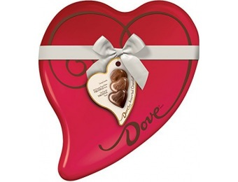 71% off DOVE Valentine's Assorted Chocolate Candy Heart Gift Tin