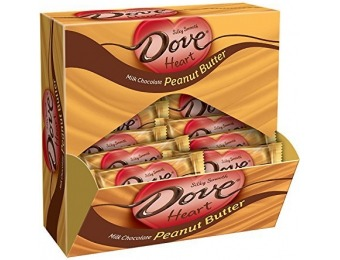 41% off DOVE Valentine Hearts PB Milk Chocolate Candy Bag, 24-Count
