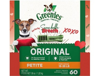 31% off Greenies Original Petite Dog Dental Chews - 60 Treats