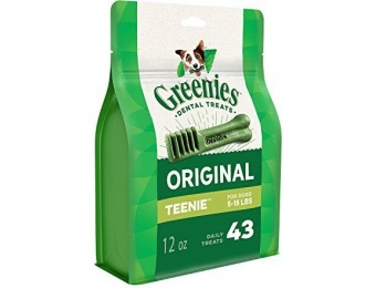 53% off Greenies Original Teenie Dog Dental Chews - 43 Treats