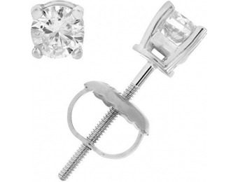 58% off 1/3 cttw SI2-I1 AGS Certified Diamond Earrings 14K White Gold