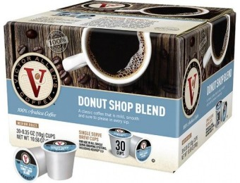 38% off Victor Allen's Donut Shop Blend K-Cups (30-Pack)