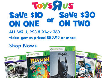 $30 off Any Two Video Games, $10 off Any One Video Game