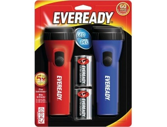 88% off Eveready 2 Pack LED Flashlights