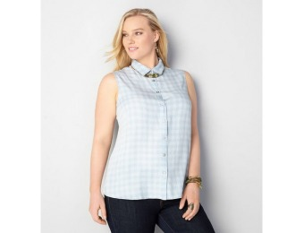85% off Avenue Plus Size Plaid Denim Tank