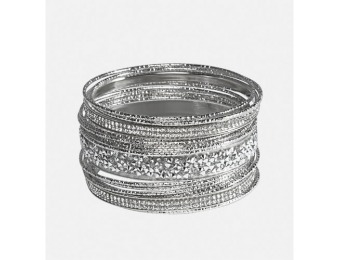 82% off Avenue Stone Bangle Set