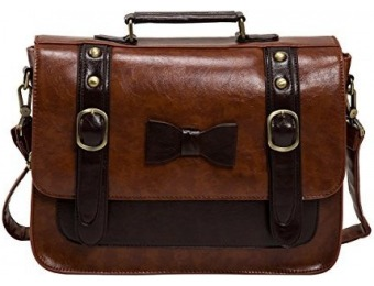 56% off ECOSUSI Women's Vintage Faux Leather Messenger Bag