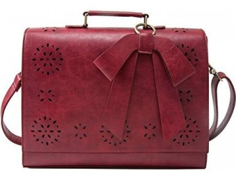 59% off ECOSUSI Ladies PU Leather Laptop Messenger Bag