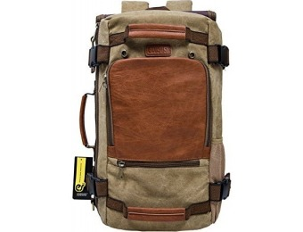 30% off ECOSUSI Vintage Canvas Tactical Backpack