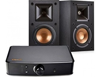 48% off Klipsch R-14M Bookshelf Speakers and Powergate Amplifier