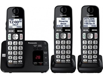70% off Panasonic KX-TGE433B Cordless Phone with Answering Machine