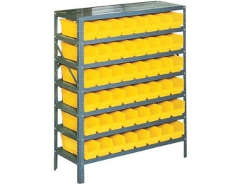 73% off Edsal Industrial Steel Shelving Storage Rack w/ 48 Bins