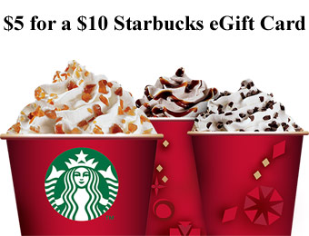 $5 for a $10 Starbucks Digital eGift Card