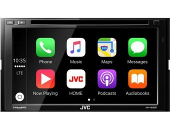 "$300 off JVC 6.8"" Bluetooth In-Dash CD/DVD/DM Receiver"