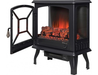 "71% off AKDY 20"" Freestanding Electric Fireplace Stove Heater"
