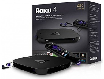 33% off Roku 4 HD and 4K UHD Streaming Media Player