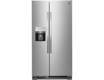 $575 off Kenmoore 25 cu. ft. Side-by-Side Refrigerator Stainless Steel