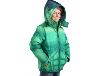 80% off Incredible Hulk Kids Puffer Superhero Jacket