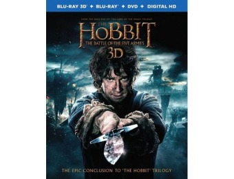 77% off Hobbit: The Battle of the Five Armies (Blu-ray 3D/DVD)