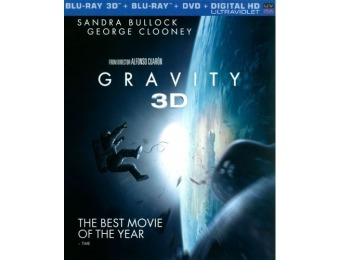 77% off Gravity (Blu-ray/Blu-ray 3D/DVD)