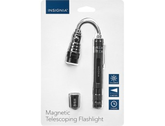 78% off Insignia Magnetic Telescoping Flashlight
