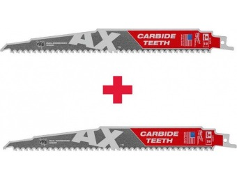 "50% off Milwaukee 9"" 5 TPI with Carbide Axe Sawzall Blade (2-Pack)"