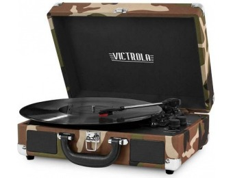 45% off Victrola Bluetooth Stereo Turntable - Camouflage