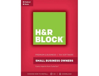 $10 GC + $44 off H&R Block Tax Software Premium & Business 2017