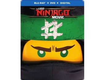 73% off The LEGO NINJAGO Movie [SteelBook] Blu-ray/DVD