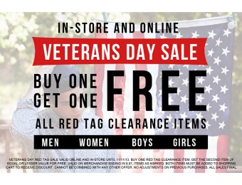 Tilly's Veteran's Day Sale: Buy One, Get One Free on All Red Tag Items