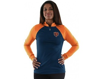86% off NFL Women's Quarter-Zip Long-Sleeve Top - Chicago Bears
