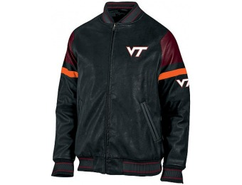 86% off NCAA Men's Pleather Jacket - Virginia Tech Hokies