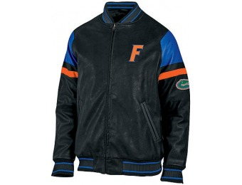 87% off NCAA Men's Big & Tall Pleather Jacket - Florida Gators